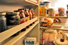 filled fridge
